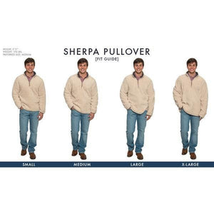 <b>PRE-ORDER</b> Heathered Quarter Zip Sherpa Pullover in Navy by The Southern Shirt Co.  - 3