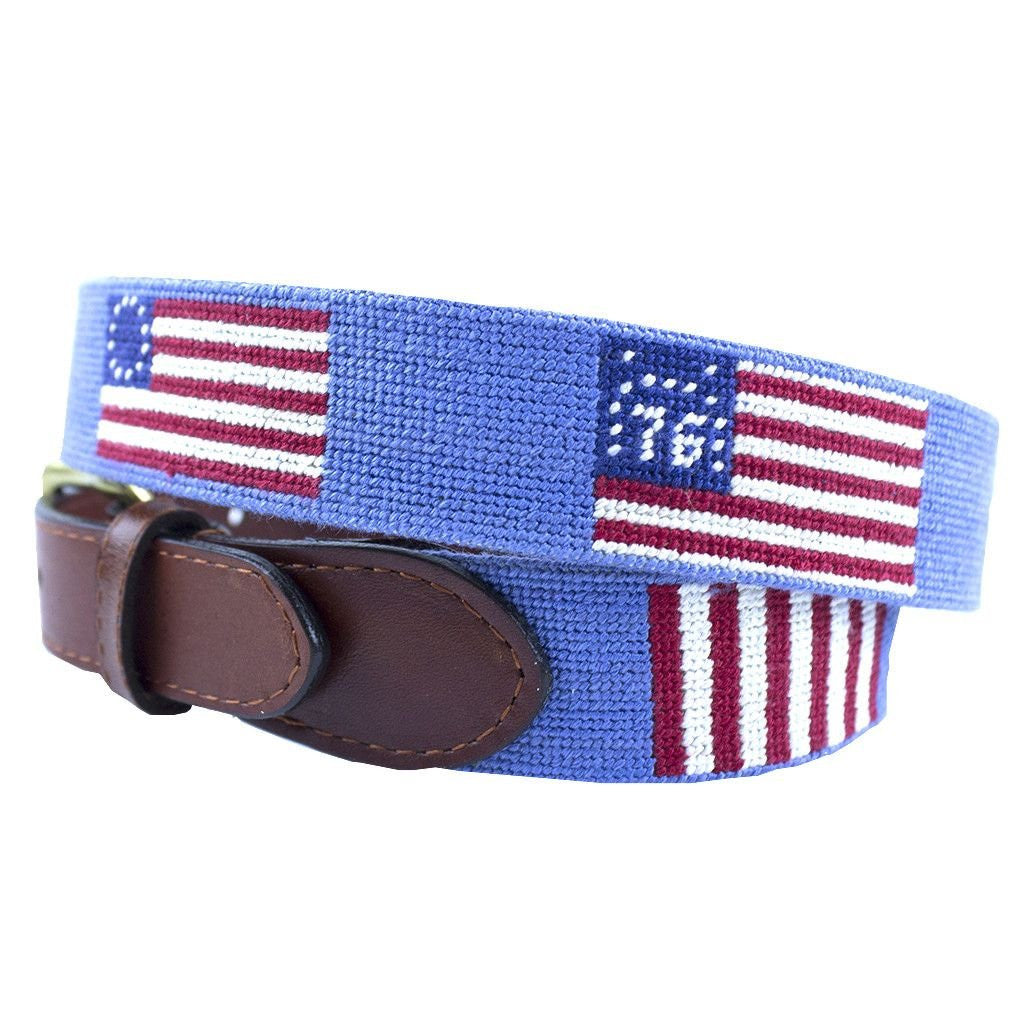 Flags of Our Fathers Needlepoint Belt  547f33eef4