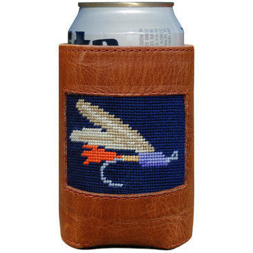Fly Fishing Needlepoint Can Holder