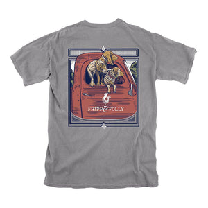 Fripp & Folly Dog Days Tee in Grey