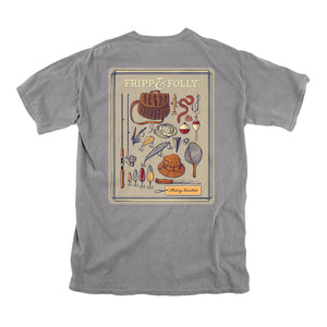 Fishing Essentials Tee in Grey by Fripp & Folly