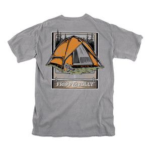 Fripp & Folly Gone Camping Tee in Granite