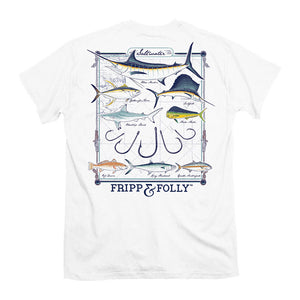 Fripp & Folly Saltwater Collection Tee in White