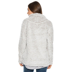 Frosty Tipped Women's Stadium Pullover in Putty by True Grit (Dylan)  - 3