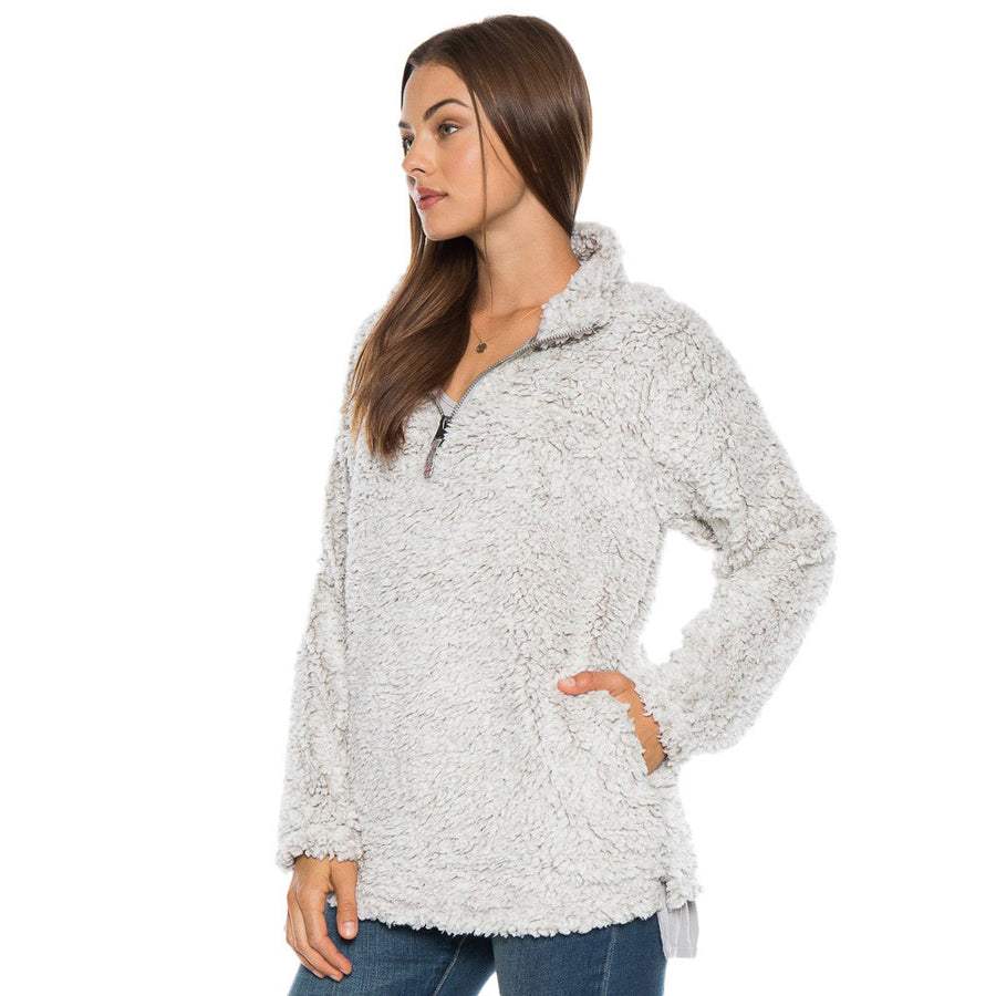 Frosty Tipped Women's Stadium Pullover in Putty by True Grit (Dylan)  - 1