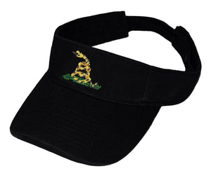 Gadsden Flag Needlepoint Visor in Black