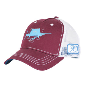 Guy Harvey Logo Hat in Burgundy