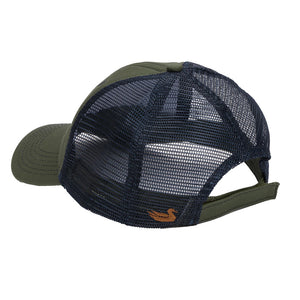 Hunting Dog Trucker Hat in Dark Olive by Southern Marsh  - 2