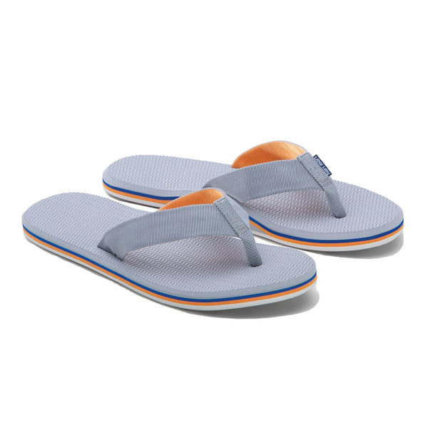 Hari Mari Men's Dunes Flip Flop in Gray, Blue & Orange