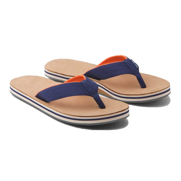 Men's Scouts Flip Flop in Navy & Orange by Hari Mari