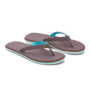 Hari Mari Women's Dunes Flip Flop in Brown, Yellow & Blue