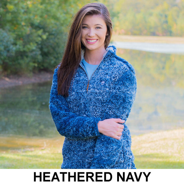 Heathered Quarter Zip Sherpa Pullover