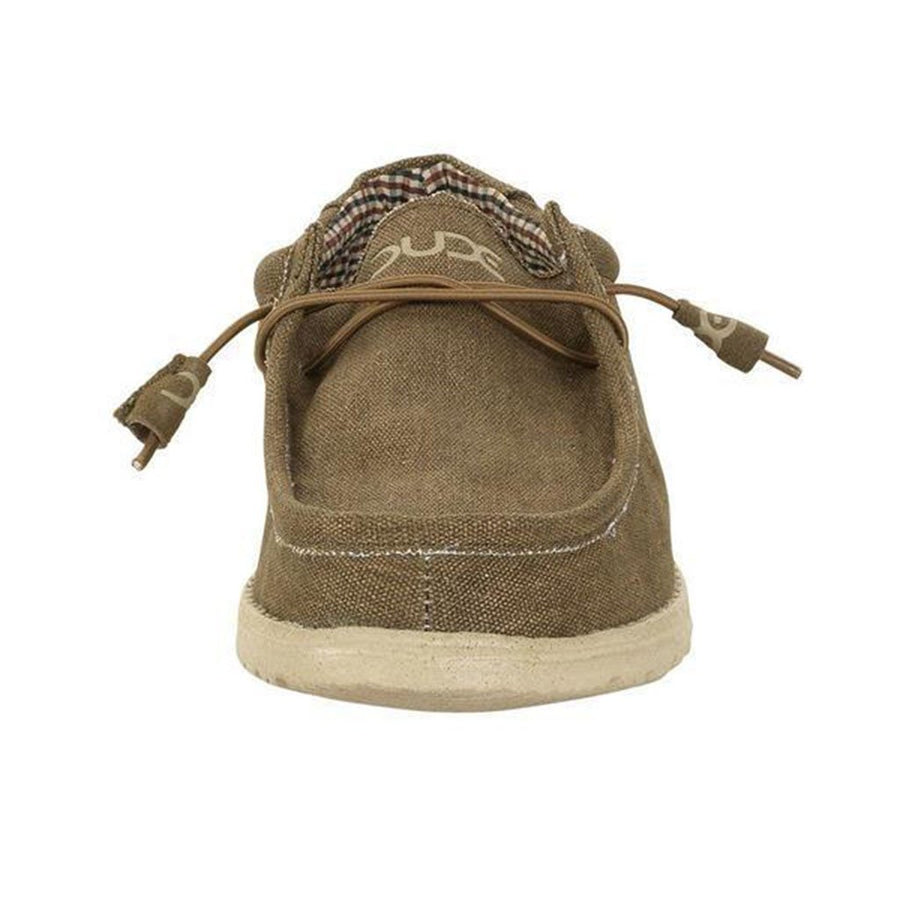 Hey Dude Wally Canvas Shoe in Nut