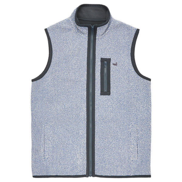 Highland Alpaca Vest in Washed Blue   - 1