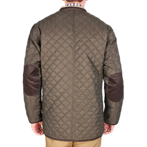 Quilted Reversible Jacket in Olive Green & Khaki by Madison Creek Outfitters  - 3