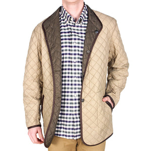 Quilted Reversible Jacket in Olive Green & Khaki by Madison Creek Outfitters  - 2