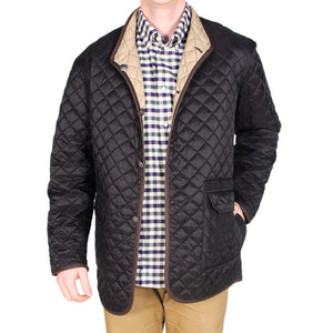 Quilted Reversible Jacket in Black & Khaki by Madison Creek Outfitters  - 1
