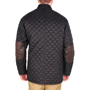 Quilted Reversible Jacket in Black & Khaki by Madison Creek Outfitters  - 3