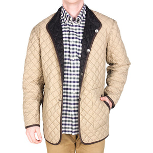 Quilted Reversible Jacket in Black & Khaki by Madison Creek Outfitters  - 2