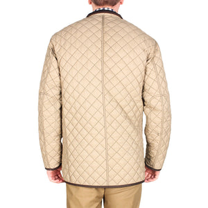 Quilted Reversible Jacket in Black & Khaki by Madison Creek Outfitters  - 4