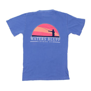 Waters Bluff Fisher Tee Shirt in Mystic Blue