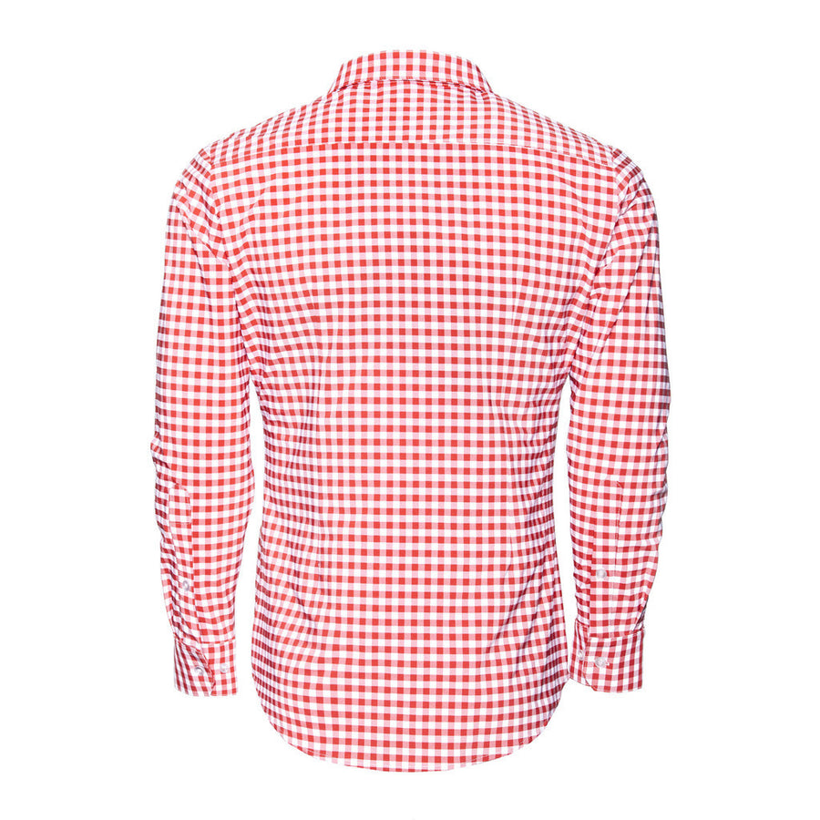 "The ""Hatteras"" Checked Dress Shirt in Red"
