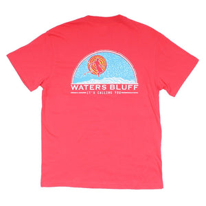 Ropeswanger Simple Pocket Tee in Bright Red by Waters Bluff