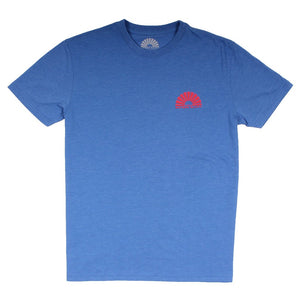 Kayak Me a River Natural Tee in Chill Blue Blend by Waters Bluff
