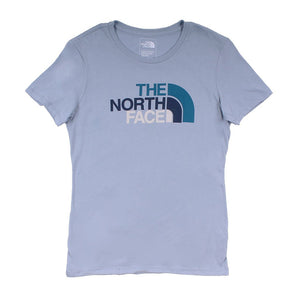 The North Face Women's Half Dome Crew in Dusty Blue & Blue Coral Multi