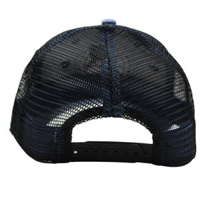 Bluff Horizion Trucker Hat in Slate Blue & Black   - 2