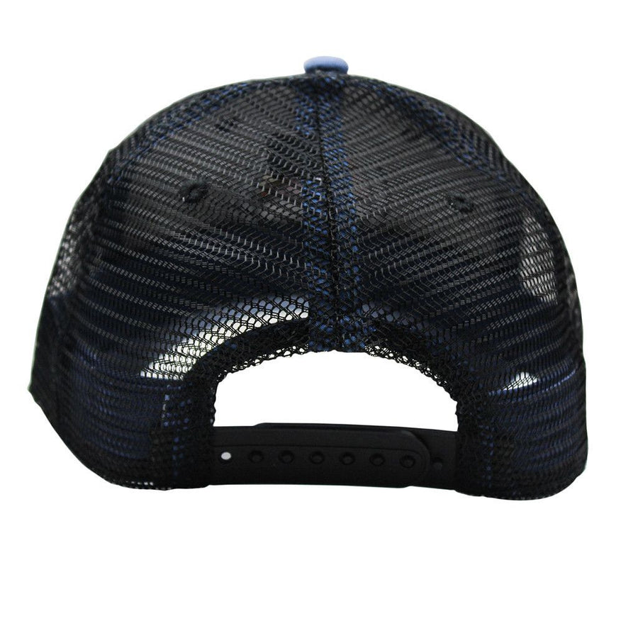 Bluff Horizion Trucker Hat in Slate Blue & Black   - 1