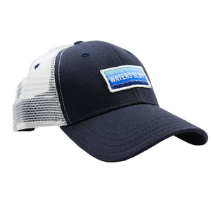 Wave Trucker Hat in Navy & White
