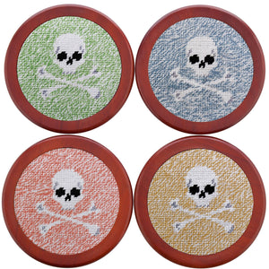 Heathered Jolly Roger Coasters in Multicolor