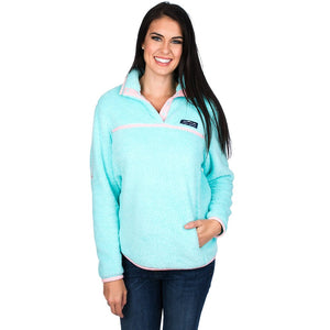 Lauren James Aspen Pullover in Aruba Blue