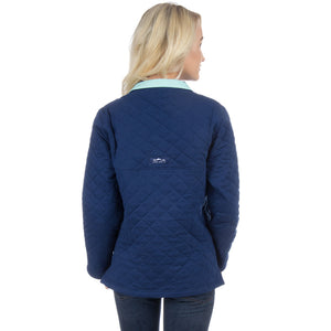 Lawson Quilted Pullover in Estate Blue by Lauren James
