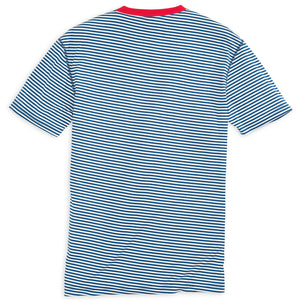 Liberty Stripe Performance Tee Shirt in Yacht Blue