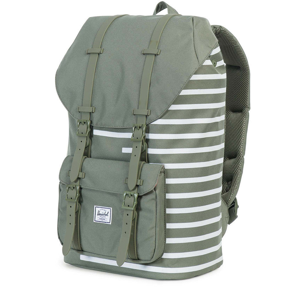 35d82f59677 Little America Backpack in Deep Lichen Offset Stripe by Herschel Supply Co.  - 1