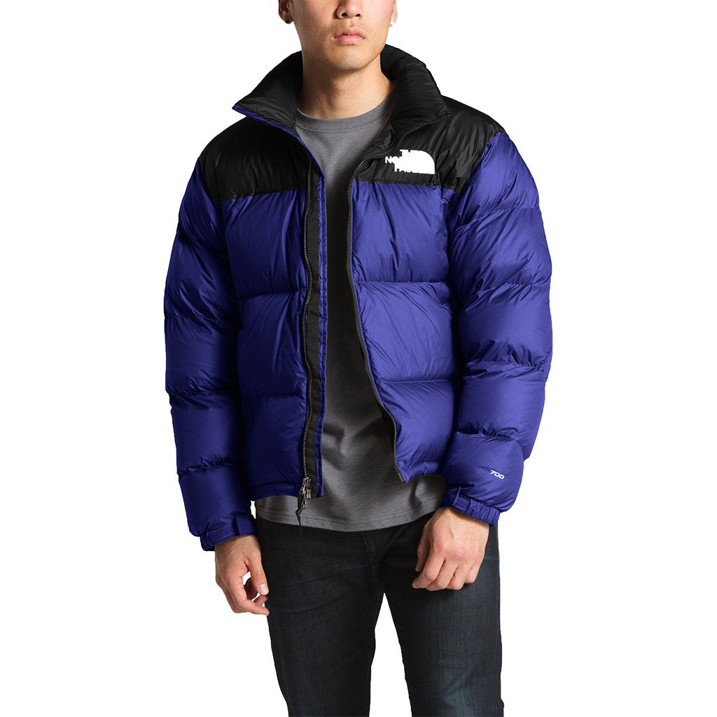 52baf68721 The North Face Men's 1996 Retro Nuptse Jacket in Aztec Blue. Country Club  Prep S / TNF Red
