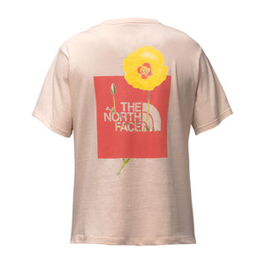 The North Face Women's Short Sleeve Bottle Source Red Box Tee in Evening Sand Pink