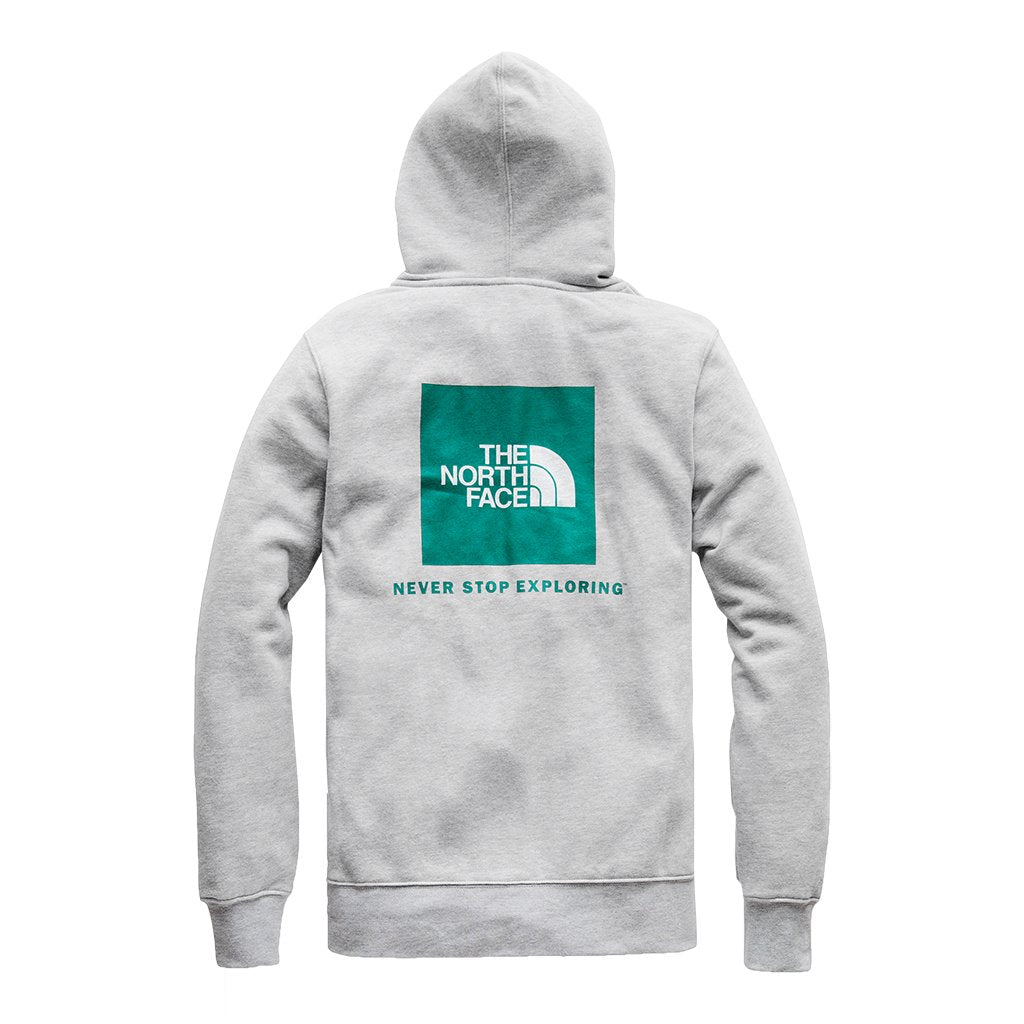 7de6f3b64 Men's Half Dome Pullover Hoodie in Light Heather Grey & Everglade by The  North Face