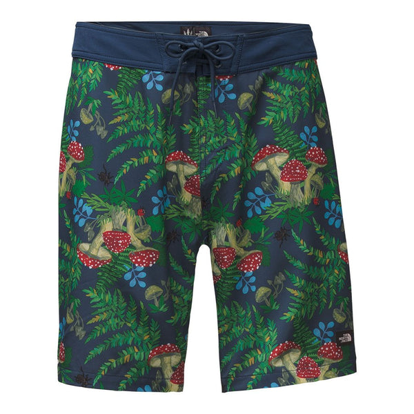 Men's Whitecap Board Shorts in Blue Wig Teal Forest Floor Print by The North Face