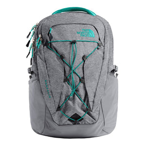 The North Face Women's Borealis Backpack in Zinc Grey Light Heather & Kokomo Green