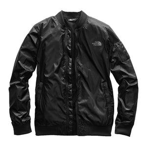 The North Face Women's Meaford Bomber in Shiny TNF Black