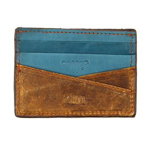 Kraken Needlepoint Credit Card Wallet in Turquoise by Parlour  - 2