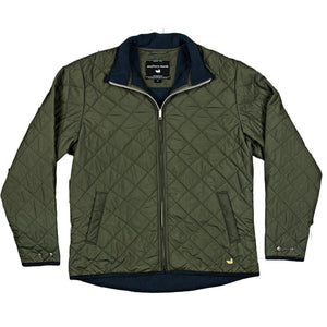 Marshall Quilted Jacket in Dark Green by Southern Marsh  - 2