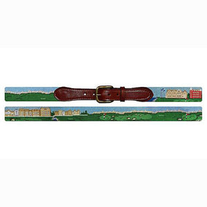 Old Course Scene Needlepoint Belt