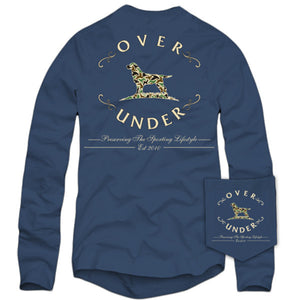Old School Camo Logo Long Sleeve Tee in Navy by Over Under Clothing  - 4