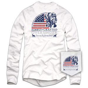 Over Under Clothing Long Sleeve Finely Crafted Tee in White