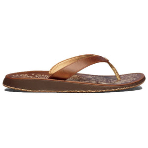 Women's Paniolo Sandal in Natural Brown   - 1