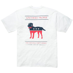 Party Animal Tee Shirt in White by Southern Proper